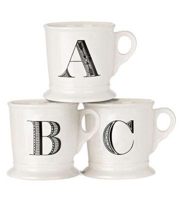Image result for anthropologie monogram mug image