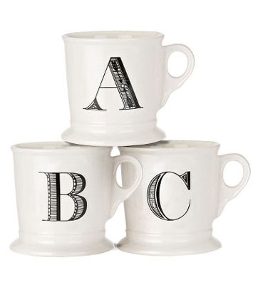 Image result for anthropologie monogram mug image